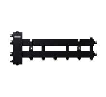 """Балансировочный коллектор BM-100-4D (до 100 кВт, подкл. котла G 1¼″, 3+1 контура G 1″, цвет """"черный c серебром"""")"""